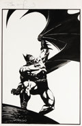 Original Comic Art:Sketches, Bernie Wrightson - Batman Illustration Original Art (undated). A moody and evocative rendition of the Caped Crusader by pen ...