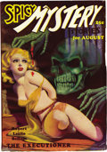 Pulps:Horror, Spicy Mystery Pulp Group (Culture, 1935-36). The lot contains issues from August, 1935 (bondage cover - FN/VF) and April, 19... (Total: 2 Comic Books)