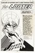 Original Comic Art:Splash Pages, Keith Pollard and Frank Giacoia - The Amazing Spider-Man Annual#13, Pin-Up page 36 Original Art (Marvel, 1979). A meteor ga...