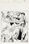 Original Comic Art:Splash Pages, Keith Pollard - The Marvel Saga #10, Splash page 1 Original Art(Marvel, 1986). Outcast Peter Parker takes it on the masked ...