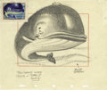 "Animation Art:Production Drawing, Walt Disney Studios - ""Happy Whale"" Animation Production Drawing Original Art (Disney, undated). This whale of a drawing by ..."
