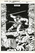 Original Comic Art:Splash Pages, Val Semeiks - Conan the Barbarian #190, Splash page 31 Original Art(Marvel, 1987). Val Semeiks began his professional caree...