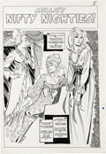 Original Comic Art:Splash Pages, Stan Goldberg - Millie the Model Pin-Up Page 5 Original Art(Marvel, circa 1962). Millie takes her pretty poses in these gla...