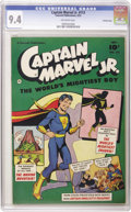 Golden Age (1938-1955):Superhero, Captain Marvel Jr. #113 Crowley Copy pedigree (Fawcett, 1952) CGC NM 9.4 Off-white pages. Overstreet 2006 NM- 9.2 value = $2...