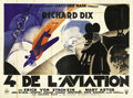 "Movie Posters:Drama, The Lost Squadron (RKO, 1932). French Poster (90"" X 124"").Beautiful art deco renderings of Richard Dix and Erich vonStrohe..."