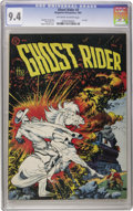 Golden Age (1938-1955):Western, Ghost Rider #3 (Magazine Enterprises, 1951) CGC NM 9.4 Off-white towhite pages. How this cover must have stood out on the s...