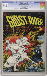 Ghost Rider #3 (Magazine Enterprises, 1951) CGC NM 9.4 Off-white to white pages. How this cover must have stood out on t...