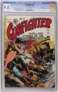 """Golden Age (1938-1955):Western, Gunfighter #11 Davis Crippen (""""D"""" Copy) pedigree (EC, 1949) CGC VF/NM 9.0 Off-white pages. There aren't many of these in hig..."""