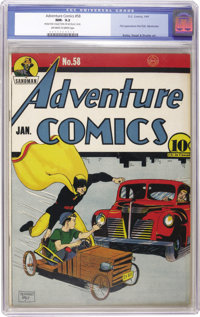 Adventure Comics #58 (DC, 1941) CGC NM- 9.2 Off-white to white pages. Paul Kirk, Manhunter begins his original run in th...