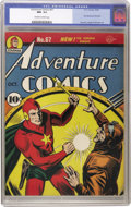 Golden Age (1938-1955):Superhero, Adventure Comics #67 (DC, 1941) CGC NM- 9.2 Off-white to white pages. That nebulous nemesis, the Mist, and his band of invis...