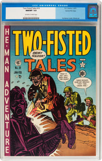Two-Fisted Tales #19 Gaines File pedigree 2/10 (EC, 1951) CGC NM/MT 9.8 Off-white to white pages