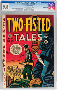 Two-Fisted Tales #20 Gaines File pedigree 2/9 (EC, 1951) CGC NM/MT 9.8 Off-white to white pages