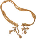 Luxury Accessories:Accessories, Chanel Gold Multi-Strand Necklace With Animal Charms. ...