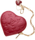 Luxury Accessories:Accessories, Louis Vuitton Red Monogram Vernis Patent Leather Coin Purse. ...