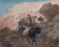 WILLIAM ROBINSON LEIGH (American, 1866-1955) The Mesa Trail, 1950 Watercolor with gum arabic on pape