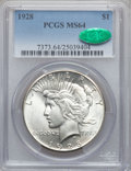 Peace Dollars, 1928 $1 MS64 PCGS. CAC....