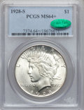Peace Dollars, 1928-S $1 MS64+ PCGS. CAC....