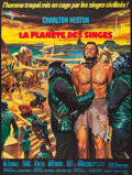 "Movie Posters:Science Fiction, Planet of the Apes (20th Century Fox, 1968). French Grande (46"" X61"") Jean Mascii Art.. ..."