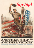 "Movie Posters:War, World War I Propaganda (Publication Section Emergency FleetCorporation, 1918). Poster (40"" X 60"") ""Another Ship - Another V..."