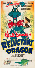 "Movie Posters:Animation, The Reluctant Dragon (RKO, 1941). Three Sheet (41"" X 81"").. ..."