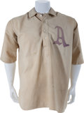 Baseball Collectibles:Uniforms, Early 1910's Jack Coombs Game Worn Philadelphia Athletics Jersey,MEARS A9....