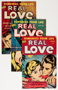 Golden Age (1938-1955):Romance, Real Love Group (Ace Periodicals, 1950-56) Condition: AverageVG.... (Total: 13 Comic Books)