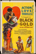 "Movie Posters:Black Films, Black Gold (Norman, 1928). One Sheet (27"" X 39.75""). Black Films....."