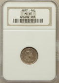 Seated Dimes: , 1877 10C MS61 NGC. NGC Census: (3/124). PCGS Population (10/87).Mintage: 7,310,000. Numismedia Wsl. Price for problem free...