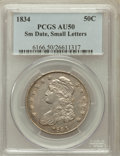 Bust Half Dollars: , 1834 50C Small Date, Small Letters AU50 PCGS. PCGS Population(115/492). ...