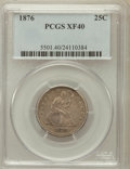 Seated Quarters: , 1876 25C XF40 PCGS. PCGS Population (19/584). NGC Census: (5/448).Mintage: 17,817,150. Numismedia Wsl. Price for problem f...