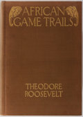 Books:Sporting Books, Theodore Roosevelt. African Game Trails. Scribners, 1910.First trade edition, first printing. Publisher's cloth wit...