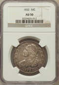 Bust Half Dollars: , 1832 50C Small Letters AU50 NGC. NGC Census: (140/1383). PCGSPopulation (224/1178). Mintage: 4,797,000. Numismedia Wsl. Pr...