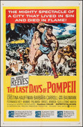 "Movie Posters:Adventure, The Last Days of Pompeii (United Artists, 1960). One Sheet (27"" X41""). Adventure.. ..."