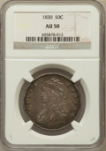 Bust Half Dollars: , 1830 50C Small 0 AU50 NGC. NGC Census: (105/1196). PCGS Population(143/903). Mintage: 4,764,800. Numismedia Wsl. Price for...