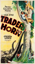 "Movie Posters:Adventure, Trader Horn (MGM, 1931). Three Sheet (41"" X 81"") Style A.. ..."