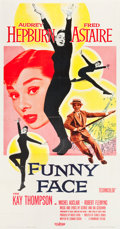 "Movie Posters:Romance, Funny Face (Paramount, 1957). Three Sheet (41"" X 80""). From thecollection of GLG.. ..."