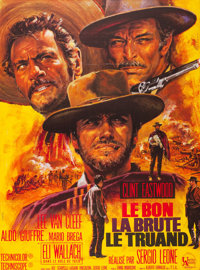 """The Good, the Bad and the Ugly (United Artists, 1967). French Grande (47"""" X 63"""") Jean Mascii Art"""