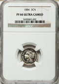 Proof Three Cent Nickels, 1884 3CN PR66 Ultra Cameo NGC....