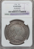 Early Dollars, 1796 $1 Large Date, Small Letters -- Plugged -- NGC Details. VF.B-5, BB-65, R.2....