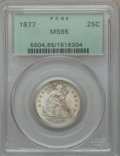 Seated Quarters, 1877 25C MS65 PCGS....