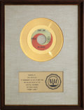 "Music Memorabilia:Awards, Beatles ""Penny Lane"" RIAA Gold Record Award (1967). ..."