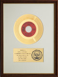 "Music Memorabilia:Awards, Simon and Garfunkel ""Mrs. Robinson"" RIAA Gold Record Award (1968)...."
