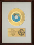 "Music Memorabilia:Awards, The Osmonds ""Yo-Yo"" RIAA Gold Record Award (1971). ..."
