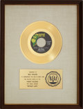 """Music Memorabilia:Awards, Tom Jones """"Without Love (There Is Nothing)"""" RIAA Gold Record Award(1969)...."""