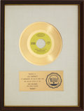 "Music Memorabilia:Awards, Looking Glass ""Brandy (You're A Fine Girl)"" RIAA Gold Record Award(1972). ..."