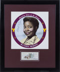 Movie/TV Memorabilia:Autographs and Signed Items, A Butterfly McQueen Signed Check and Color Poster, 1986....