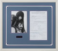 Music Memorabilia:Autographs and Signed Items, Sonny & Cher Signed Shindig TV Contract in a FramedDisplay (1965)....