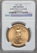 Saint-Gaudens Double Eagles: , 1927 $20 -- Improperly Cleaned -- NGC Details. Unc. NGC Census:(360/136656). PCGS Population (889/135512). Mintage: 2,946,...