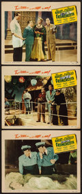 """Movie Posters:Horror, Abbott and Costello Meet Frankenstein (Realart, R-1956). Lobby Cards (3) (11"""" X 14""""). Horror.. ... (Total: 3 Items)"""