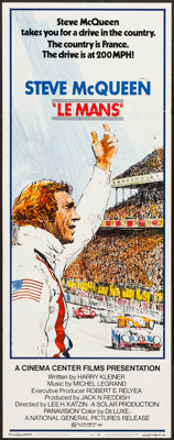 """Le Mans (National General, 1971). Insert (14"""" X 36""""). Sports"""